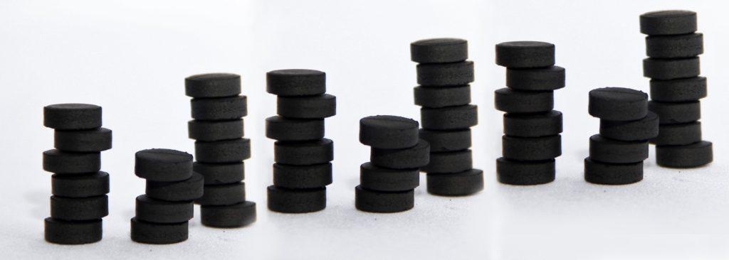 Carbon tablet stacks